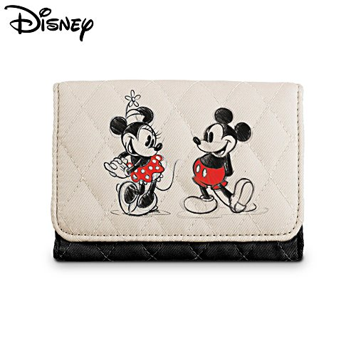 Disney Mickey Mouse And Minnie Mouse RFID Blocking Tri-Fold Wallet