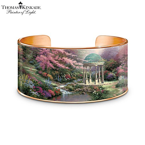 Thomas Kinkade 'Serenity's Garden' Copper Bracelet
