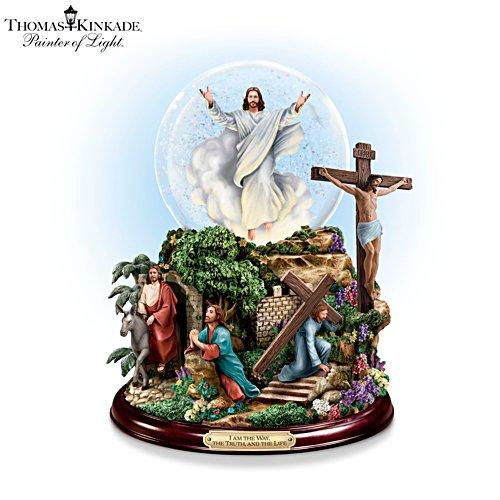 Thomas Kinkade's 'Visions Of Christ' Glitter Globe