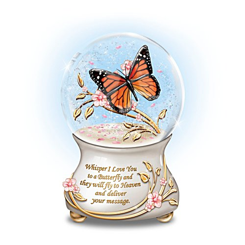 'Whispers From Heaven' Remembrance Musical Glitter Globe
