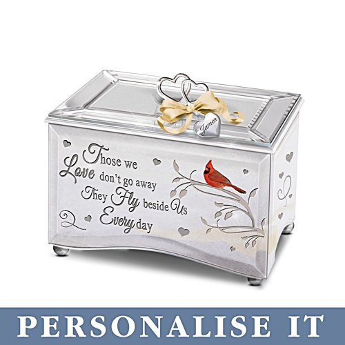 'Always Beside Me' Personalised Mirrored Music Box