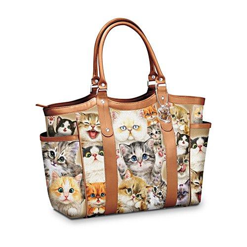 Kayomi Harai 'Cats With Purr-sonality' Shoulder Tote Bag