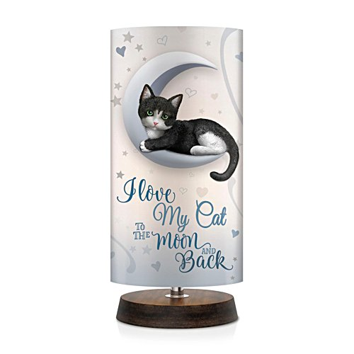 'Love My Cat To The Moon And Back' Table Lamp