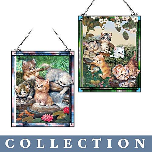 Jürgen Scholz 'Playful Kittens' Suncatcher Collection