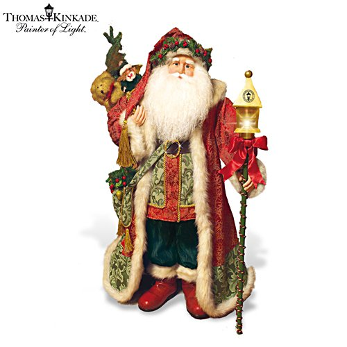 Thomas Kinkade Lamplight Santa