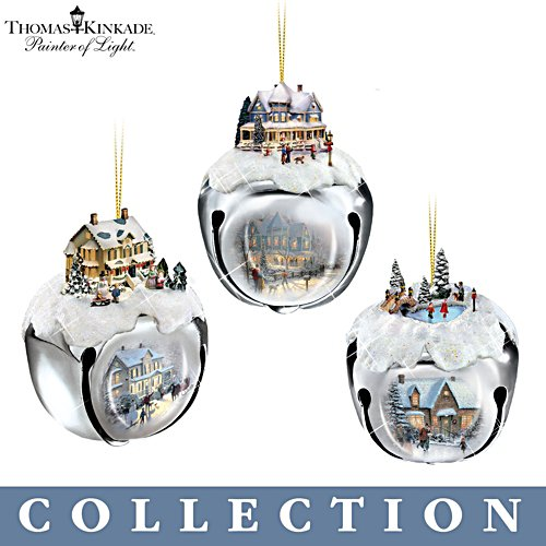 'Thomas Kinkade Sleigh Bells™' Ornament Collection