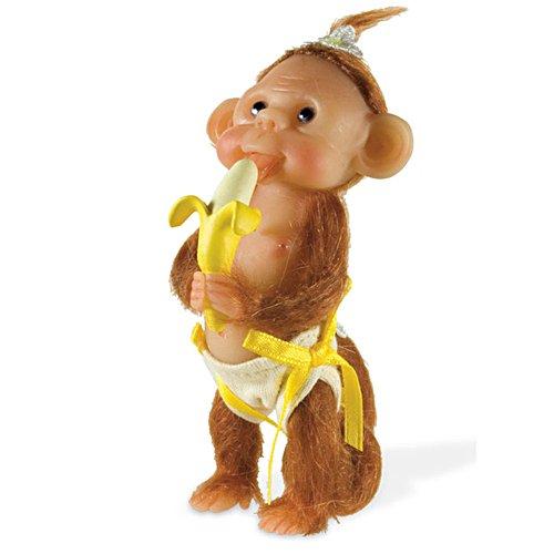 'Monkey Cuddles' Miniature Baby Doll Figurine