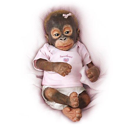 'Little Umi' Baby Orangutan Doll