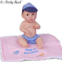 'Pink Is For Girls' So Truly Real® Baby Boy Doll