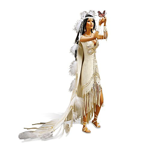 'Love Takes Wing' Porcelain Native-American Bride Doll