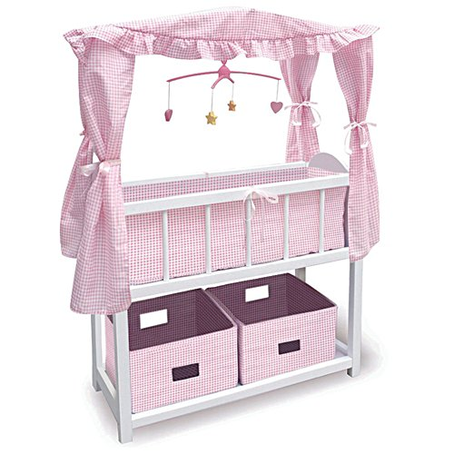Wood Crib With Canopy – For 55cm Dolls