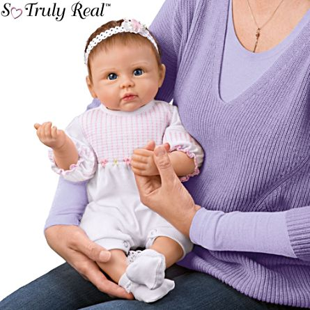 'Olivia's Gentle Touch' Touch-Activated Interactive Baby Girl Doll