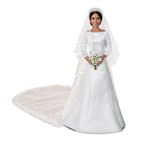 The 'Meghan Markle, Royal Romance' Porcelain Bride Doll