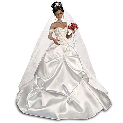 'Glory Of Love' African-American Porcelain Bride Doll