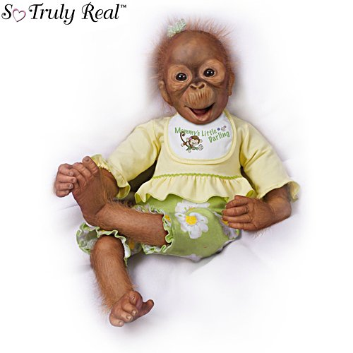 'Lola's Look Of Joy' Touch-Activated Interactive Monkey Doll