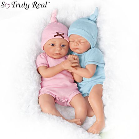 reborn so truly real doll twins 39 madison and mason baby 39 twin baby doll set. Black Bedroom Furniture Sets. Home Design Ideas
