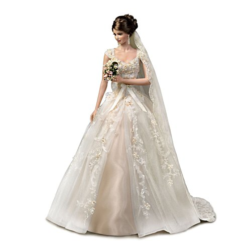 Cindy McClure 'A Love So Precious' Porcelain Bride Doll