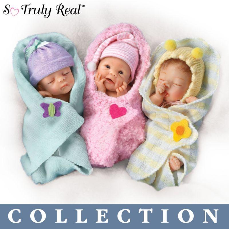 u0027Bundle Babiesu0027 Reborn Miniature Baby Doll Collection