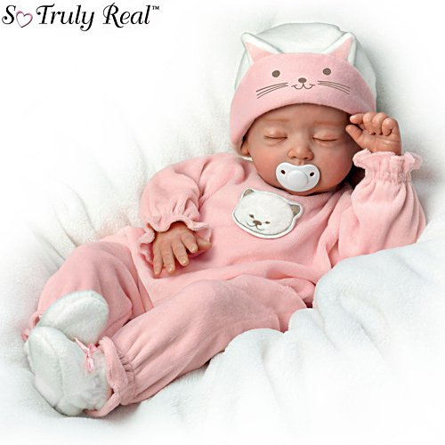 'Katie, My Sweet Little Kitten' Poseable So Truly Real® Baby Girl Doll