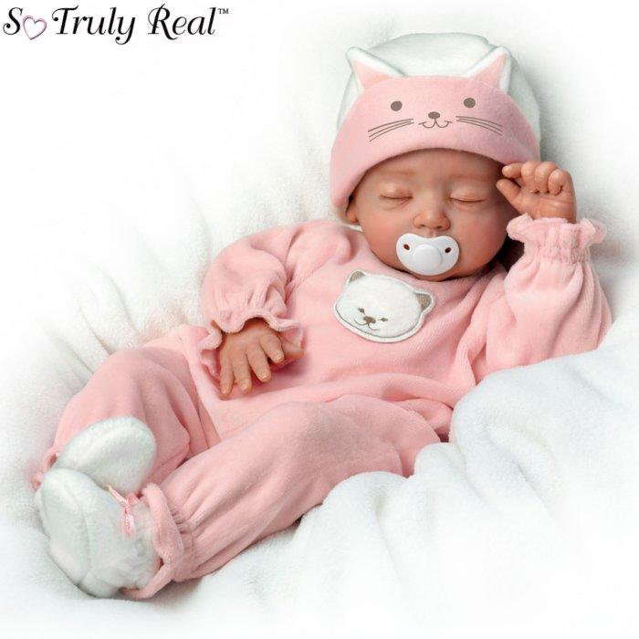 'Katie, My Sweet Little Kitten' Poseable Baby Doll