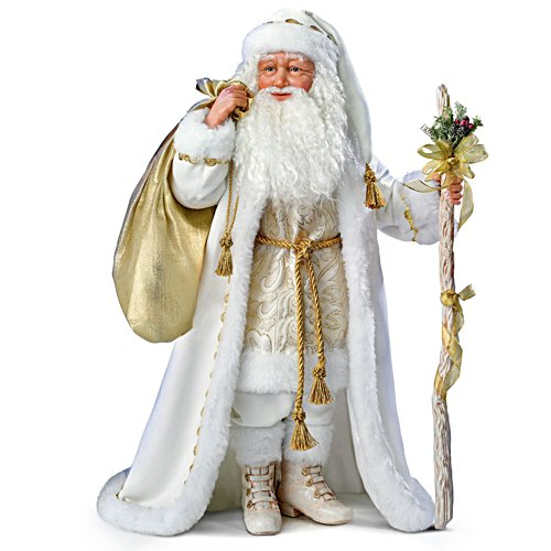 'White Christmas' Santa Portrait Doll