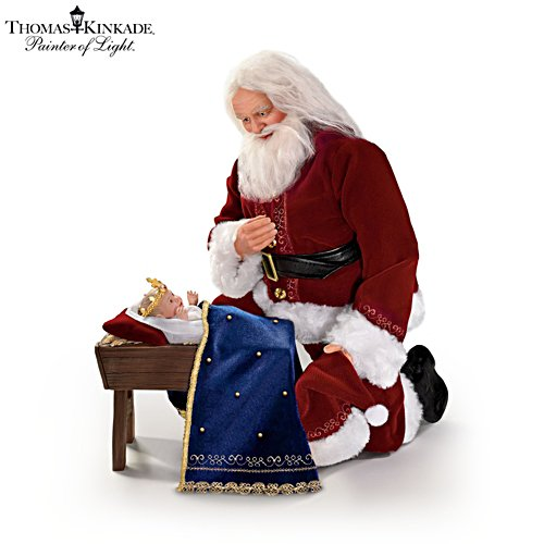 Thomas Kinkade 'Glory To The Newborn King' Santa Doll