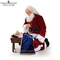 Thomas Kinkade 'Glory To The Newborn King' Santa Doll