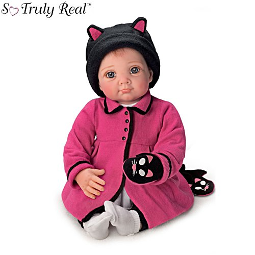 'Little Kitten Lost Her Mitten' Poseable Baby Girl Doll