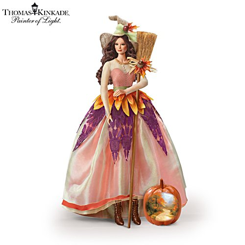 Thomas Kinkade 'Autumn Lane' Witch Portrait Doll