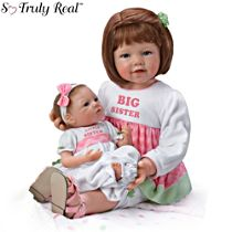 'A Sister's Love Child And Baby' Poseable Doll Set
