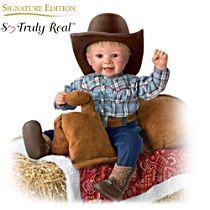 "Sherry Rawn ""Li'l Blake"" Doll With Saddle Seat Blanket"