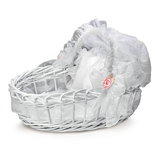 Sweet Slumber' Wicker Basket Doll Accessory