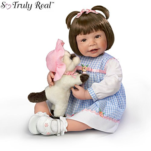 'Emma And Baby Boots' Lifelike Child Doll