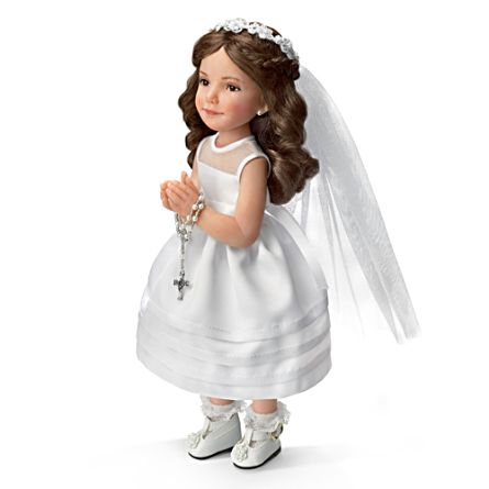 My First Holy Communion Porcelain Doll