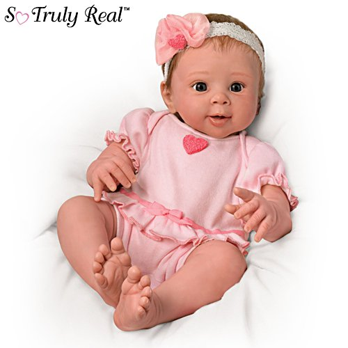 'Ella' So Truly Real® Touch-Activated Interactive Breathing Baby Doll
