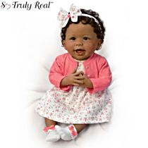 'Always Smiling, Aisha' Weighted Baby Girl Doll