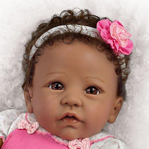 Liebliche Tessa – Afroamerikanische Silikon Reborn Puppe