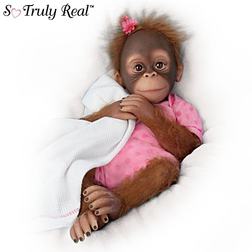 'Novi' So Truly Real® Breathing Girl Monkey Doll