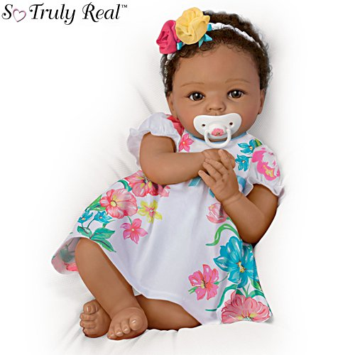 Little And Lovely Gabrielle' African-American So Truly Real® Baby Girl Doll