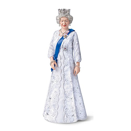 Long May She Reign Queen Elizabeth II Portrait Doll