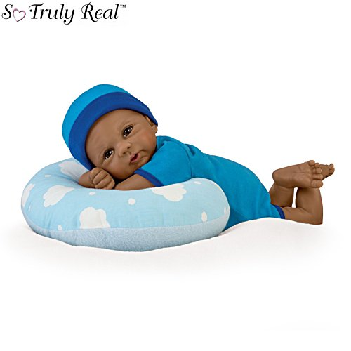 'Cuddle Buddy' So Truly Real® African-American Baby Boy Doll With Pillow