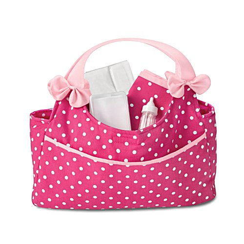 Polka Dot Nappy Bag Baby Doll Accessory Set