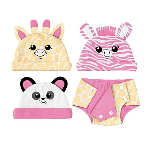 Animal Hats And Nappy Cover Accessory Set