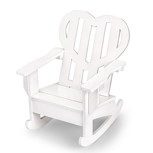 White Heart Rocking Chair Doll Accessory