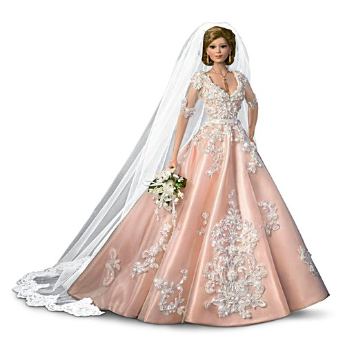 'Blushing Bride' Porcelain Bride Doll