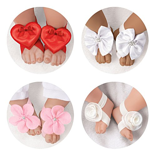 Barefoot Sandals And Headband Accessory Set For Baby Dolls