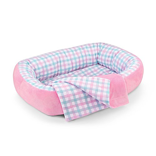 'Reversible Pink and White Bassinet For Baby Doll' Accessory
