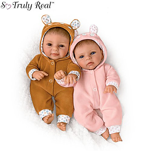 'Oh Deer! The Twins Are Here!' So Truly Real® Twin Baby Doll Set