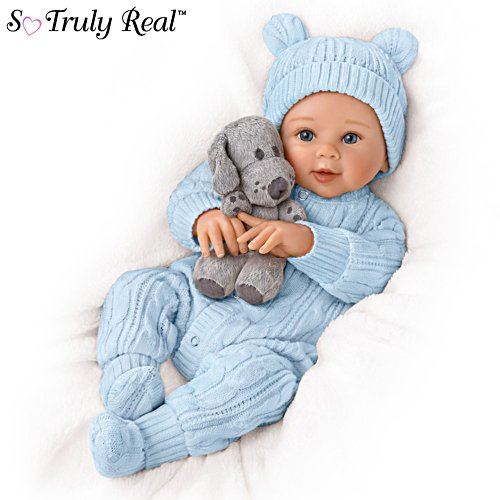 'Aiden, My Snuggle Pup' So Truly Real® Baby Doll and Plush Dog Set