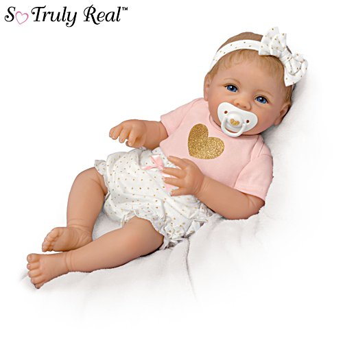 'Heart Of Gold' Touch-Activated Heartbeat Cooing Baby So Truly Real® Doll